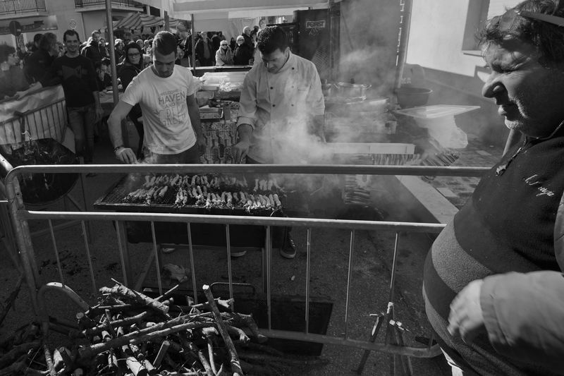 Grilling Festa Di Paese Grill Stigghiola Village Feast Village Fete Black And White Friday Focus On The Story Be Brave