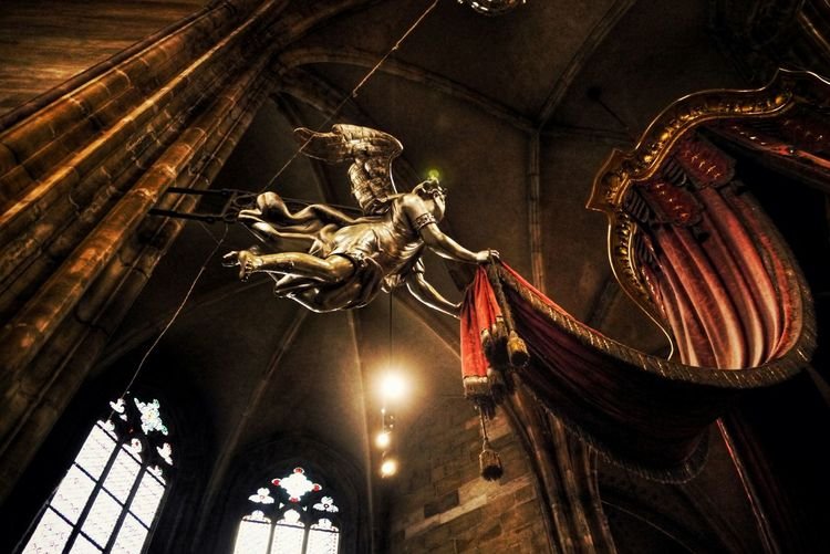 Low Angle View Of Sculpture In St Vitus Cathedral