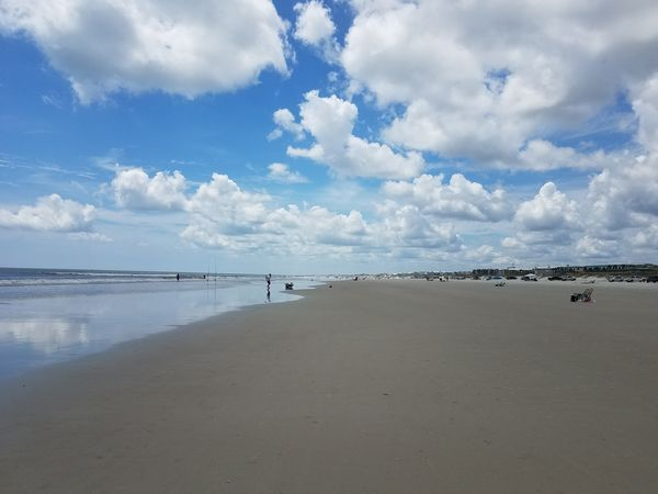 Beach Ocean Beauty In Nature Blue Clouds Hanging Out Scenics Seascapes Seascape Photography St Augustine, FL Beach Life Reflection