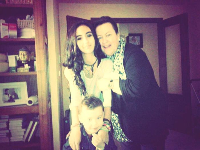 me and my Littelcousin and my Grandmother Goodnight✌ Taking Photos