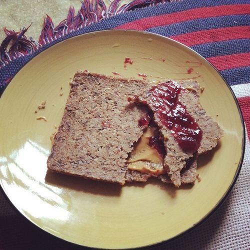 Delicious Mestermacher Flaxseedbread Wholeryekernels Fiordifrutta blackcurrantspread santacruzorganic peanutbutter nongmoprojectverified