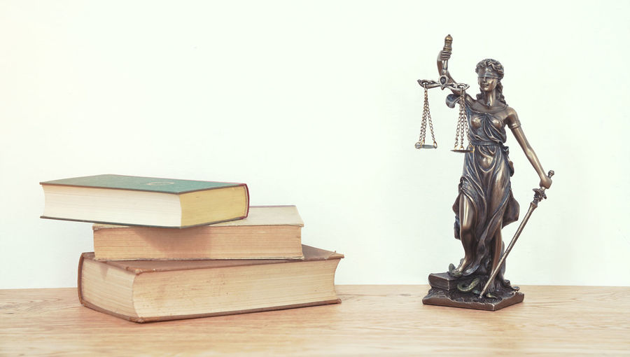 Adult Book Books Courtroom Day Full Length Indoors  Justice Justice - Concept Lady Justice Law Lawyer One Person One Young Woman Only People Statue Studio Shot Young Adult