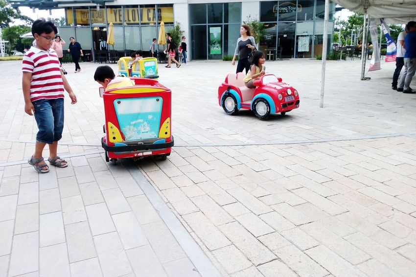 Play is the highest form of research -Albert Einstein Kids Play Small Car Childhood Memories