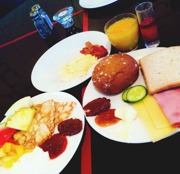 Awesome breakie at the hotel before workout! Hotel Breakfast Stockholm Sweden