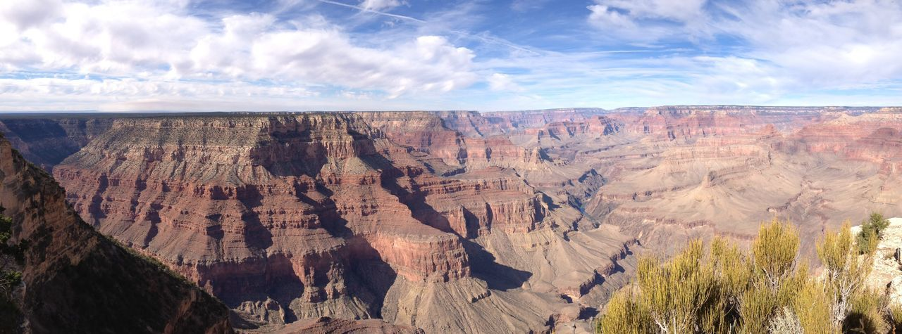 Panorama of the grand canyon from the south rim, arizona