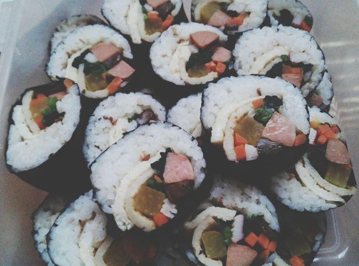 김밥 Kimbab Kimbap Homemade Home Made Food Mom's Food Korean Food Food Foodporn Foodphotography