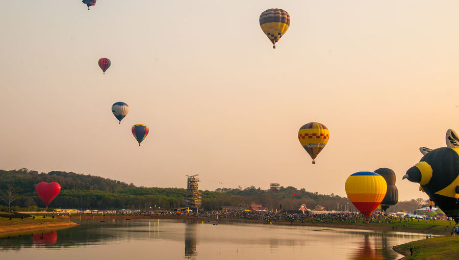 Colorful Hot Air Balloons In Sky