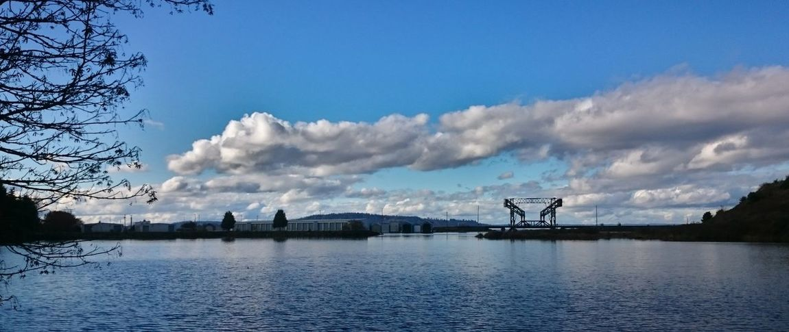 Blue Cloud - Sky Clouds Clouds And Sky Cloudscape No People Pacific Northwest  Railroad Bridge Scenics Sky Wide