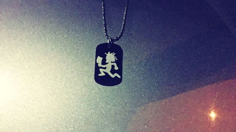 Dog Tag Dog Tags Dogtags Juggalo Juggalette Necklace Hanging No People Close-up Night Indoors  Illuminated
