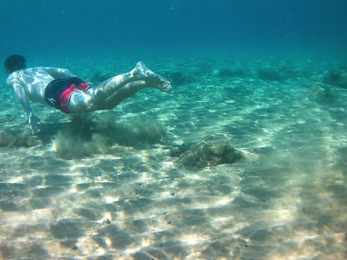 Done That. Real People Water Leisure Activity Underwater Lifestyles One Person UnderSea Swimming Scuba Diving Nature Sea Low Section Adventure Beauty In Nature Day Scuba Diver Outdoors