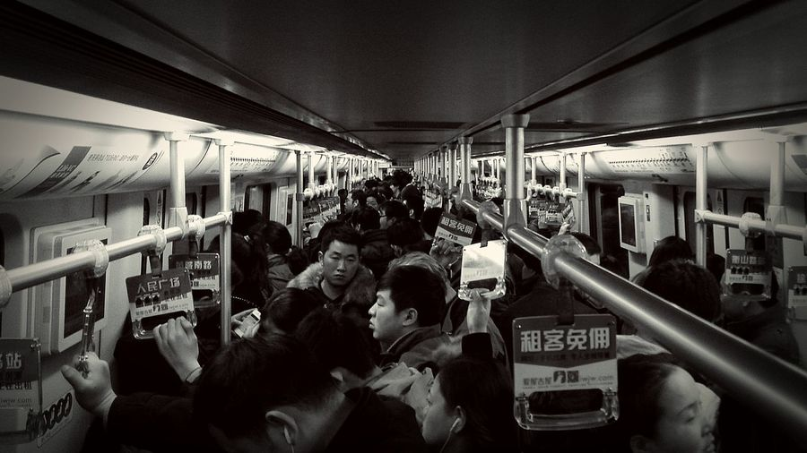Another day in Shanghai Metro. Vanishing Point Subway Cityscapes