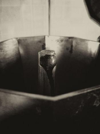 """""""El café debe ser caliente como el infierno, negro como el diablo, puro como el ángel y dulce como el amor."""" - Charles Maurice de Talleyrand Blackandwhite Cafe Coffee Domestic Kitchen Food And Drink Liquid Metal Mobile Mobilephotography"""