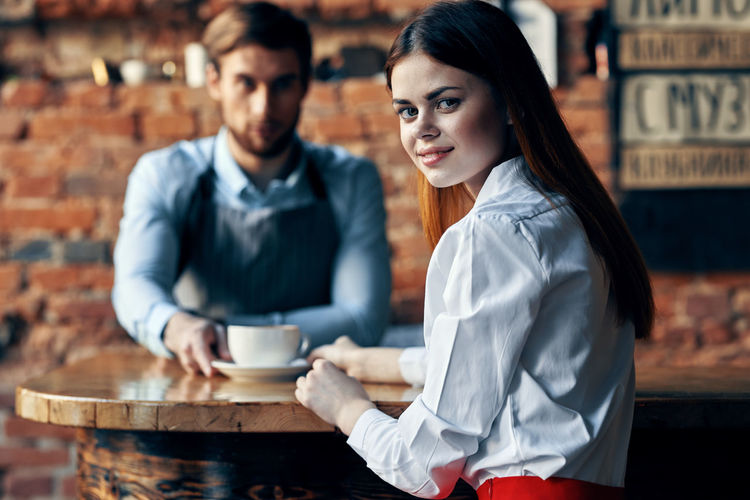 Young couple and coffee