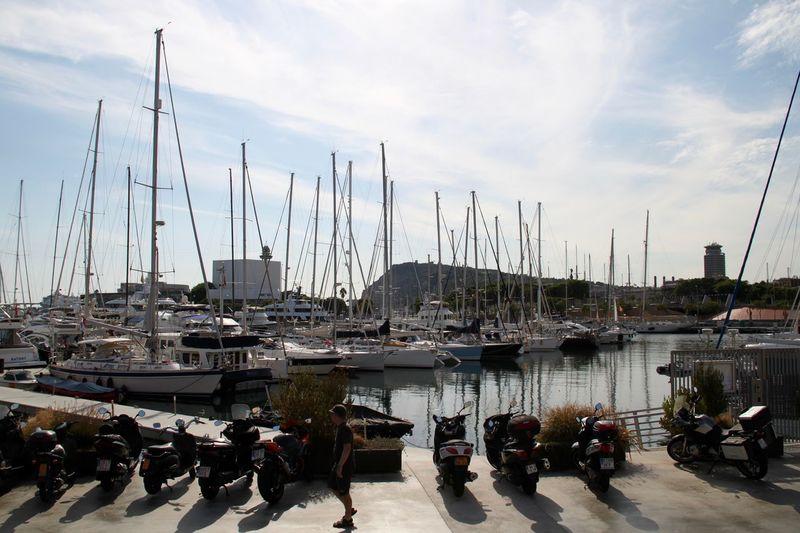 Barcelona City Harbor Harbor Marina Mast Mode Of Transport Moored Nature Nautical Vessel Outdoors Parking Port Port De Barcelona  Sea Transportation Water Yachts