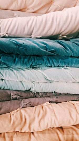 Stack of duvets
