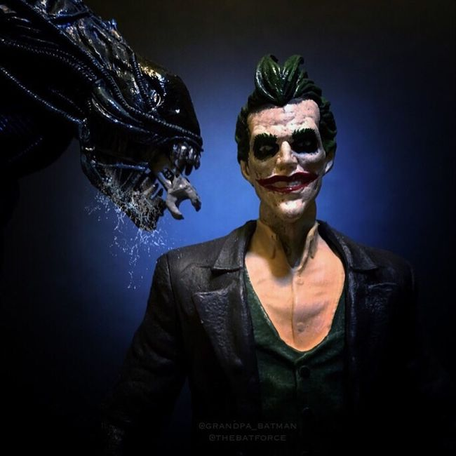 """Oh! You could be so much fun!!! HA HA HA HAAAAA!!!!"" Joker Alien Xenomorph Toyphotography Actionfigures Necatoys"