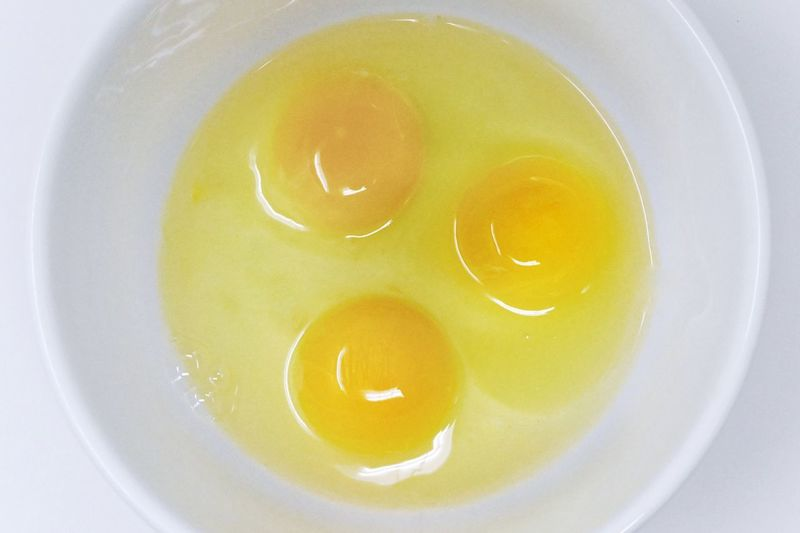 Three eggs in a