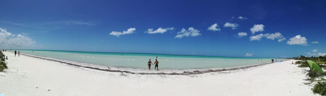 Engagement Holbox Island Mexico Vacations Beach Beauty In Nature Holbox Honeymoon Nature Panoramic Panoramic Photography Paradise Turquoise Colored Turquoise Water White Sand