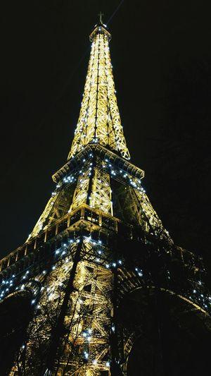 Wieża Eiffla. Paryż Eiffel Tour Eiffel Paryż Paris Francja France Night Nightphotography Nightlights Noc