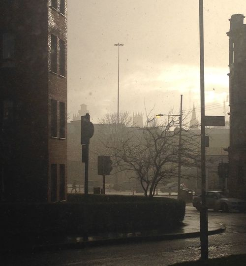 Glasgow  Rain Rainy Days Early Evening Atmosphere No Filter