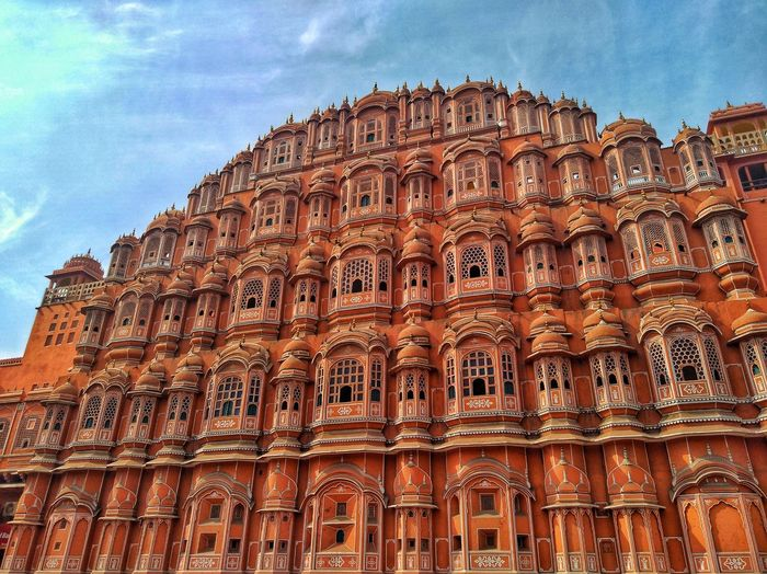 Low angle view of hawa mahal