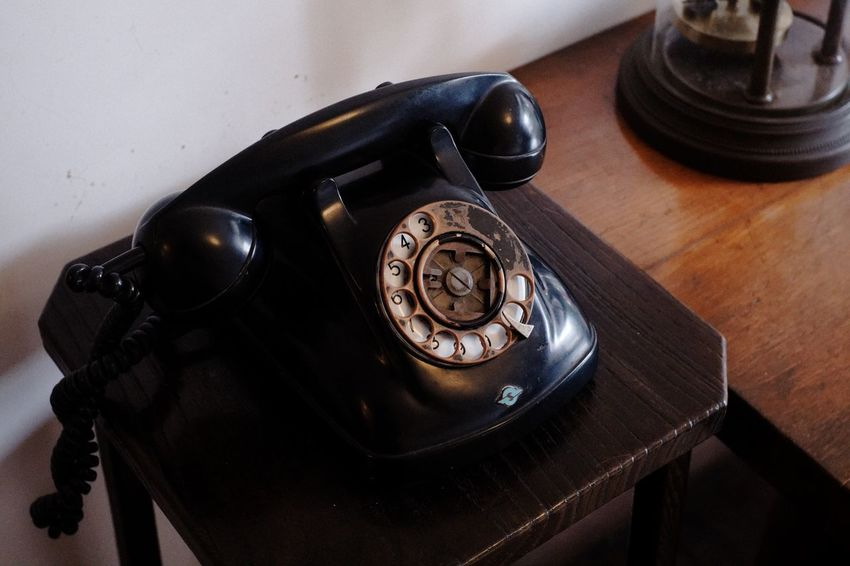 EyeEm Selects Telephone Landline Phone Table Technology Retro Styled Rotary Phone