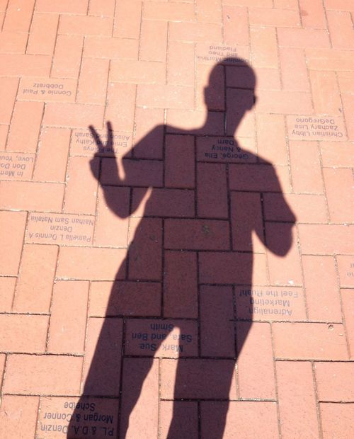 Me (pspauly63) walking the 400 block downtown in my hometown and saw a perfect opportunity for a shadow pic. 2013 Pspauly63 Enjoying Life Shadow