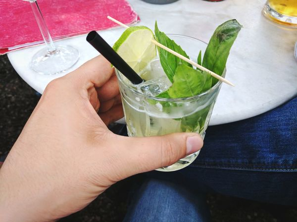 Drink Drinking Glass Cocktail Drinking Straw Mojito Refreshment Lime Alcohol Mint Leaf - Culinary Freshness Holding Food And Drink Lifestyles Last Drink, I Promise Moscow Mule Bar Drinks Friends Togetherness Afterwork Summer Leisure Activity Happiness Fun