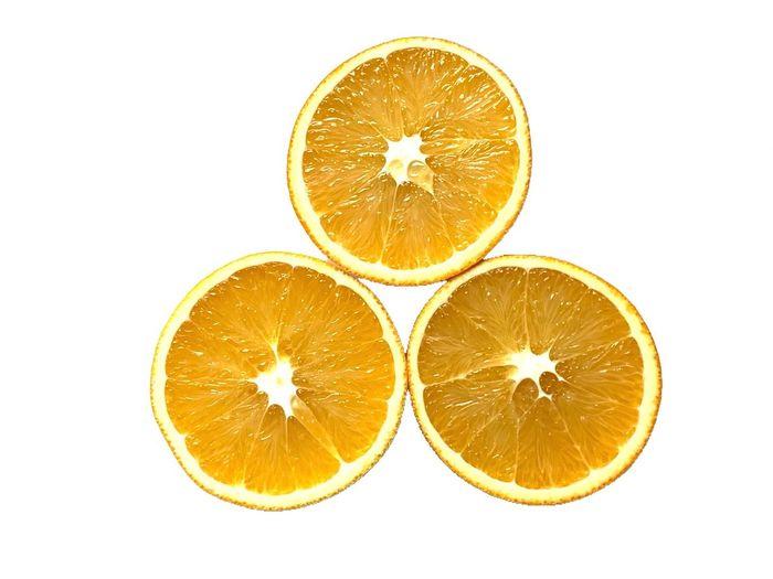 Citrus Fruit Fruit SLICE Food And Drink Orange - Fruit Orange Color Healthy Eating Cut Out Food Orange White Background Wellbeing Cross Section Circle Studio Shot Geometric Shape Freshness Shape Lemon No People