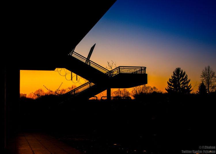 Sunset Berlin Sunset Sunset Silhouettes Places....  Verlassene Orte Verlassen Speechless Lostplaces Lost Places My Fuckin Berlin Evening Sky