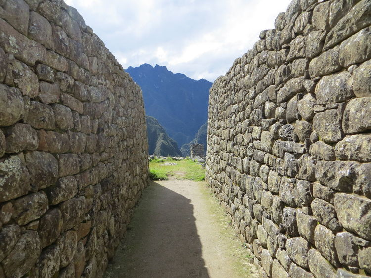 walls at Machu Picchu Architecture Beauty In Nature Cloud - Sky Day Grass Inca Ruins Machu Picchu Mountain Mountain Range Nature No People Outdoors Scenics Sky The Way Forward Tranquil Scene Tranquility