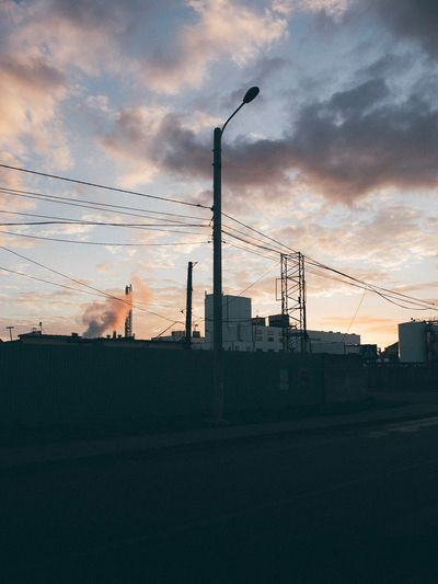 Sky Silhouette Architecture Factory Cloud - Sky No People Industry Built Structure Building Exterior Nature Outdoors Sunrise Kaliningrad Russia Canon6d Day The Week On EyeEm