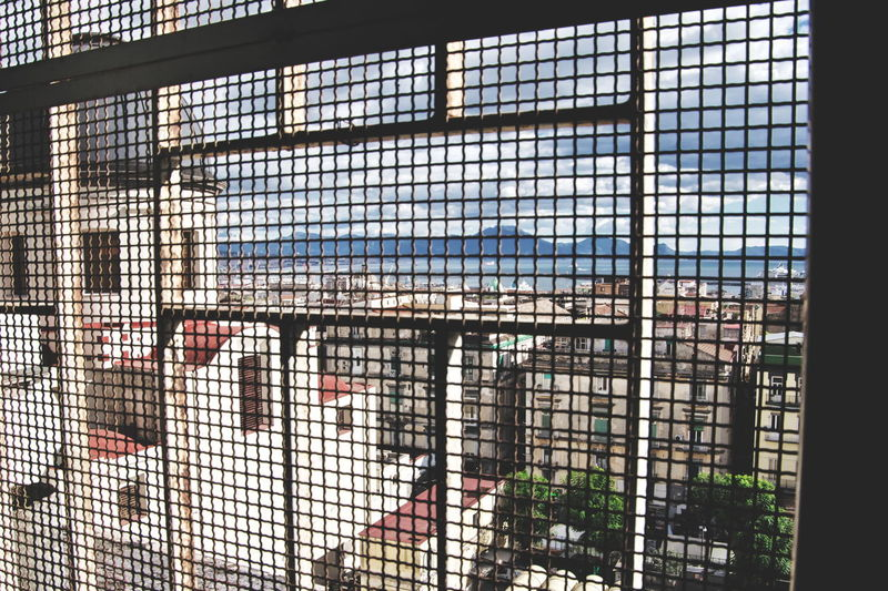 Church Italia Mare Naples Napoli Architecture Chiesa Close-up Day Indoors  Italy Metal Grate One Person People Prison Sea Sea And Sky Window EyeEmNewHere