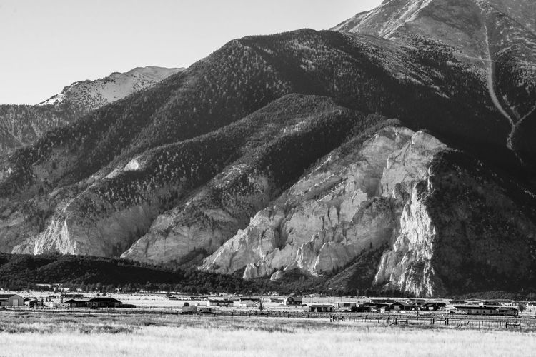 Landscapes - Layers 5 Buena Vista Cliffs Colorado B&w Beauty In Nature Black And White Day Fields Landscape Landscapes Mountain Mountains Nature No People Outdoors Rock - Object Scenics Sky Water Winter 2018