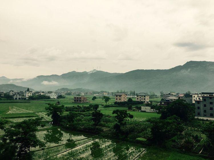 雨后的乡村风光
