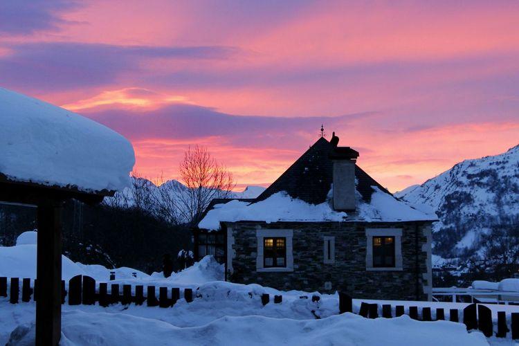 Snow Winter Sunset Val D'Aran Pirineus Borda Mountain Ski Landscape_photography landscape Nature photography