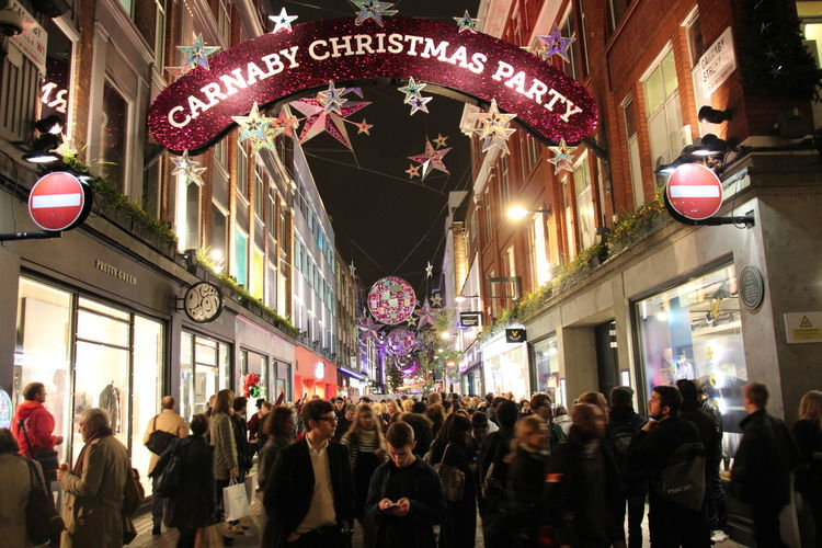 Carnaby Carnaby Christmas Carnaby Street City City Life Large Group Of People London LONDON❤ Street Party Street Shoping