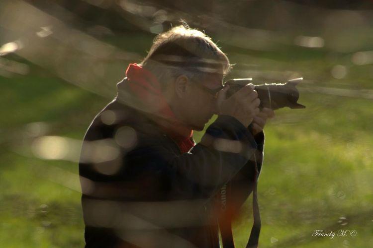 Taking Photos That's Me Man Photographer Profil Headshot Camera Shooting
