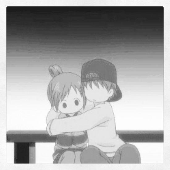 Bokuragaita Yano Nanami MomentoRomantico Kawaii Anime Abrazo