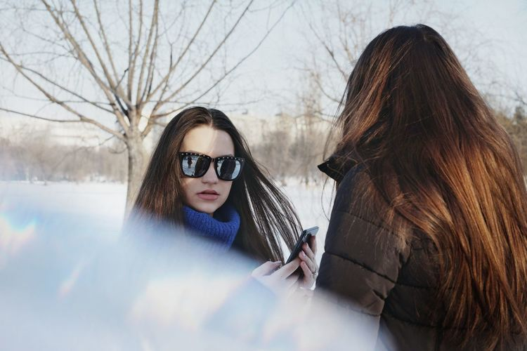Looking At Camera Real People Snow Women People Two People Warm Clothing Portrait Togetherness Girls Young Women Winter Snow Covered Cold Temperature