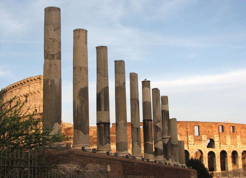 Via Sacra Ancient Civilization Architectural Column Architecture Colosseum History Italy Rom Tourism Travel Destinations Via Sacra the city light