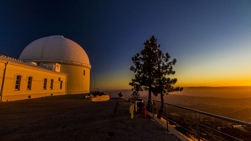 Lick Observatory Lick Observatory San Jose USA Architecture Built Structure Clear Sky Day Dome Mount Hamilton Nature No People Outdoors Sky Street Sunset Sunsets Travel Destinations Tree Uc California Dreamin