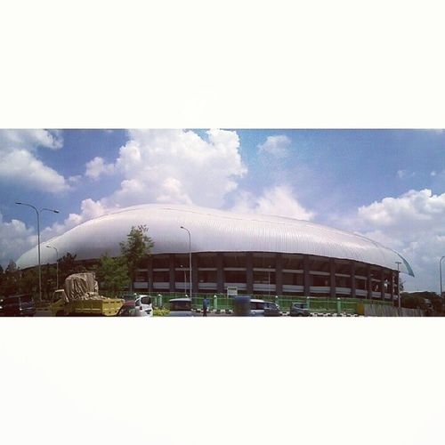 Day6 Fromdownlow 30dayphotochallenge Mayphotoaday fmsphotoaday panorama view sky international standard stadium football arena city town asia indonesia instaphoto