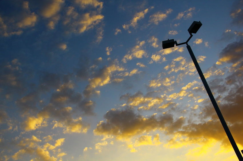 Clouds Clouds And Sunlight Lamp Post Sky And Clouds Sky Collection Baird Day Low Angle View No People Outdoors Sky Wallpaper