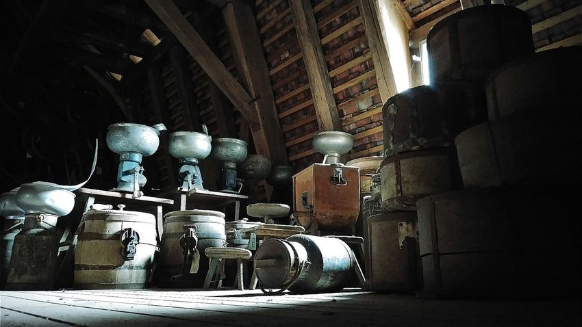 Abondoned Abondoned Buildings Abondoned Places Attic Old Treasures Roof Low Angle View Lowlight Milk Churn Statue Sculpture The Still Life Photographer - 2018 EyeEm Awards