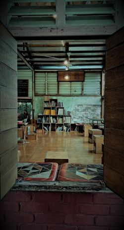 Absence Architecture Building Built Structure Chair Day Flooring Furniture Indoors  Kampung Life Malaysian Village Open Window Retro Windows Seat Table Village Library Vintage Window Wall Wood - Material Urban Fashion Jungle EyeEmNewHere #urbanana: The Urban Playground