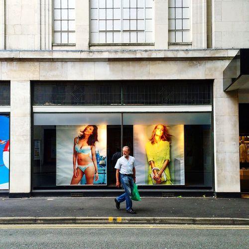 Gloucester Man Walking Building Façade Architecture Streetphotography Window Shopping Sidewalk Street