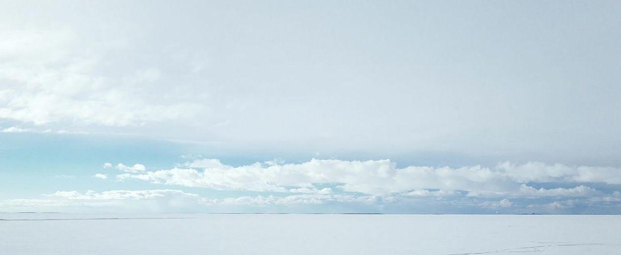 Blue Sky Cloud - Sky Icebreaker Sea Sea And Sky Seascape Vast White