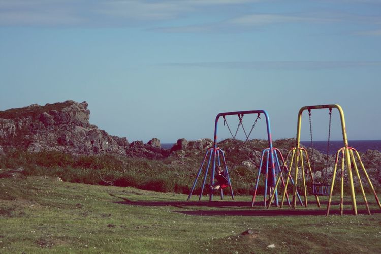 Childhood Sky Grass Outdoor Play Equipment Jungle Gym Swing #FREIHEITBERLIN