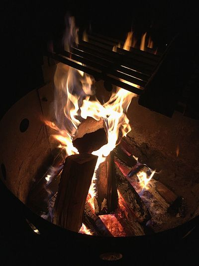 Campfire Camping Campinglife Algonquin Park Algonquinprovincialpark EyeEmNewHere Travel Travel Destinations Burning Fire Flame Fire - Natural Phenomenon Night Firewood Log Wood - Material Wood Glowing Fireplace